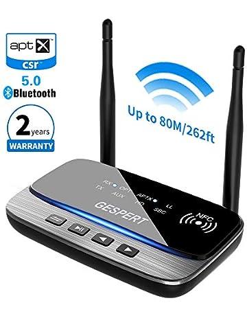 NOTENS Bluetooth 5.0 Transmisor Emisor Receptor, Digital Optical Toslink y 3,5 mm Wireless