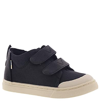 0bf90337ed1 TOMS Kids Unisex Lenny Mid (Infant Toddler Little Kid) Black Textural Canvas