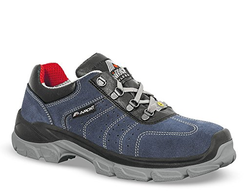 Chaussures de sécurité ARCO cuir velour bleu - 54610 - 42