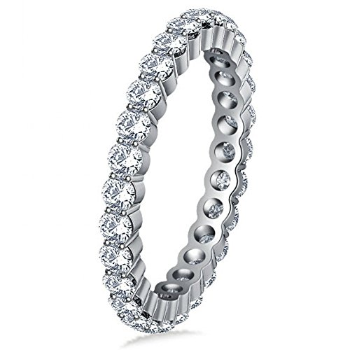 2.00 ct Ladies Round Cut Diamond Eternity Wedding Band in Platinum