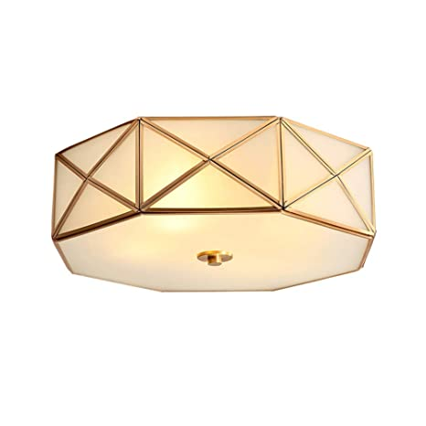 LED Landhaus Decken Lampe rund Wohn Zimmer Beleuchtung Glas Strahler Leuchte