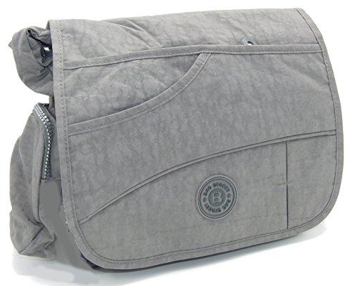 J2222 wasserabweisende Damen Tasche Schultertasche Umhängetasche Stofftasche verschiedene Farben --präsentiert von RabamtaGO®-- (stone) Grau