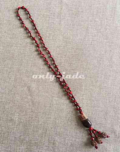 8mm108 Bead Blood Bodhi Prayer Beads Necklace & Pendant Sweater/Coat Chain