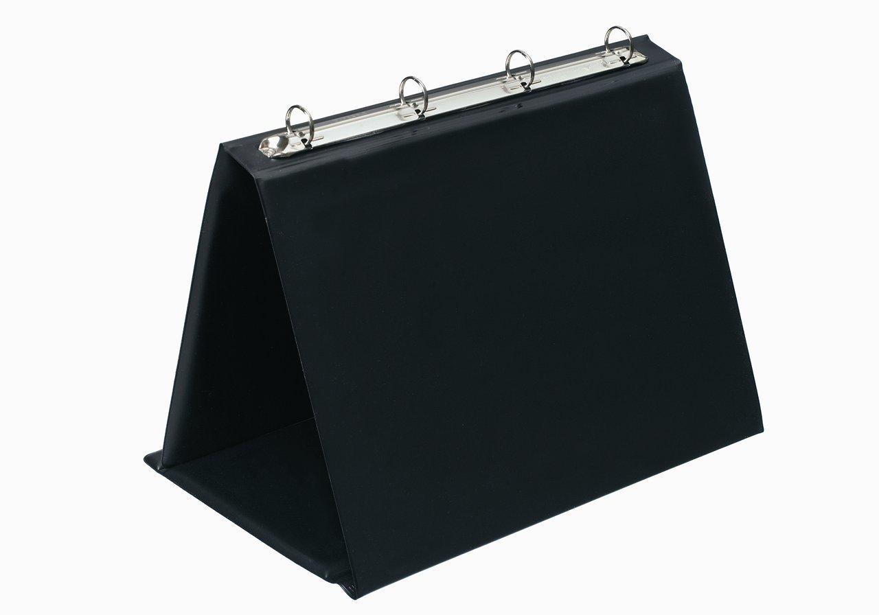 Bantex Easel Presenter Collapsible Flip-over 4-Ring 20mm Landscape A4 Black Ref 551410