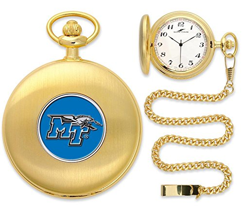 Middle Tennessee State Blue Raiders Pocket Watch - Gold (Raiders Executive Watch)