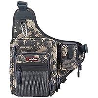 Piscifun Fishing Tackle Bag Sports Shoulder Bag Crossbody...