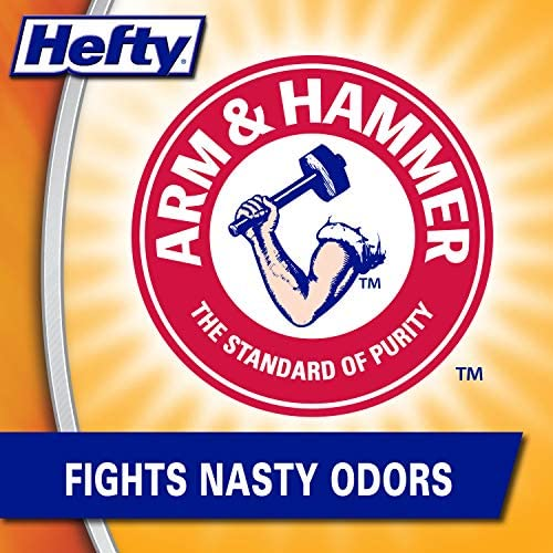 Hefty Ultra Strong Tall Kitchen Trash Bags, Clean Burst Scent, 13 Gallon,