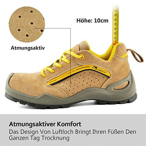 SAFETOE Chaussures de Sécurité/Bottes de Travail à Coque DAcier Homme