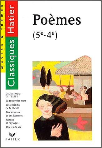 Livre Recueil de poèmes, 5e-4e epub, pdf