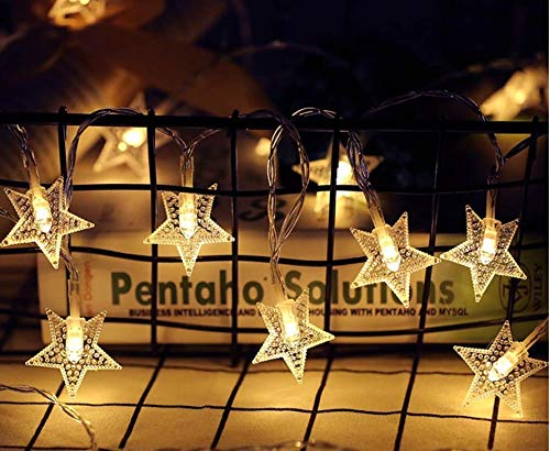 PESCA Star String Lights 25 Star Led, Decoration for Birthday, Festival, Festive Occasion, Wedding, Party for Home…