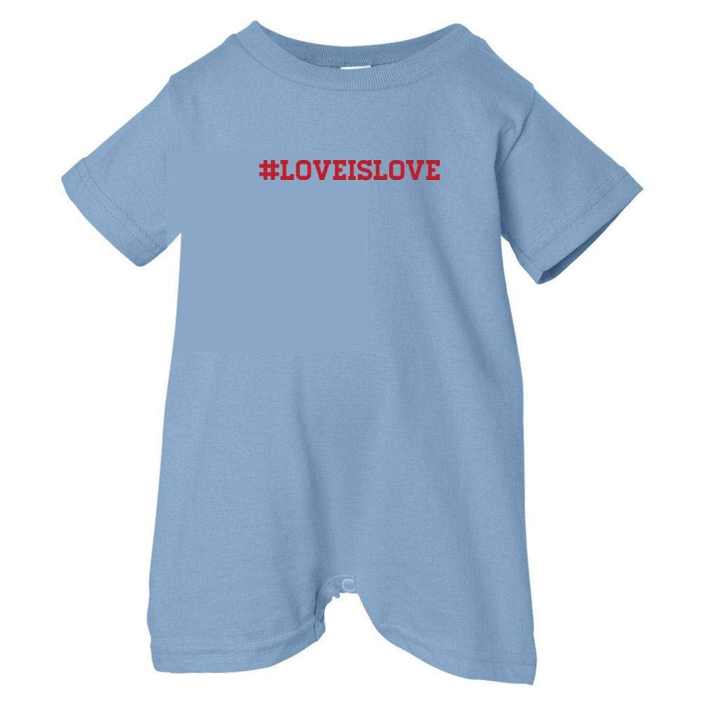 T-Shirt Romper Red Print Pride Universe Unisex Baby #Love Is Love