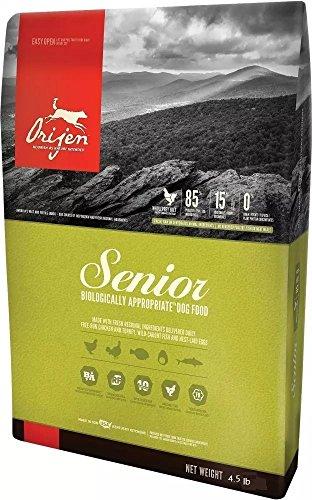 Orijen 4.5 LB Senior Dry Dog Food. (Fresh Free-Run Chicken and Turkey, Wild-Caught Fish and NEST-Laid Eggs)