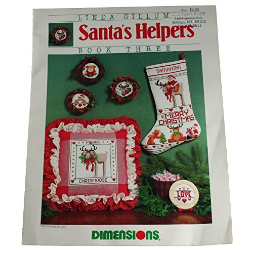 Dimensions Counted Cross Stitch Pattern Leaflet Santa's Helpers Book 3 (Santa Cross Stitch Chart)