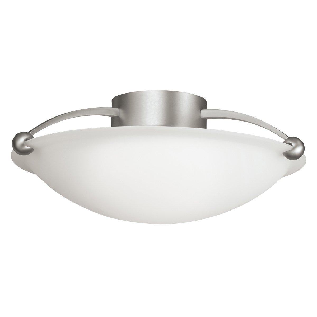 kichler 8406ni three light semi flush mount close to ceiling light