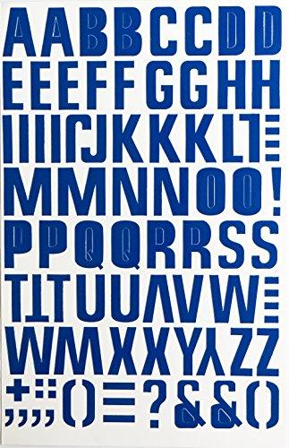 Jazzstick Large Alphabet Letters Decorative Sticker Value Pack Bulk 5 sheets Navy Blue 14B06 ()