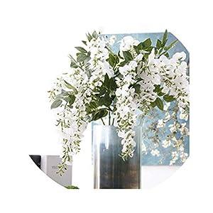 vivid-blue Artificial Wisteria Violet Flower Branches Party Decor Wedding Decoration Fake Flowers Wreath Plant 46