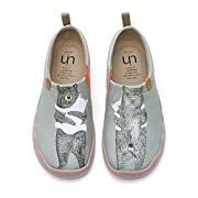 uin Women's Warm Heart Breathable Microfiber Walking Shoes Gray