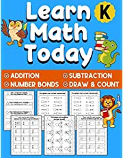 Learn Math Today: Addition and Subtraction Workbook for Kindergarten First Grade | Number Bonds Workbook | Ages 5-7