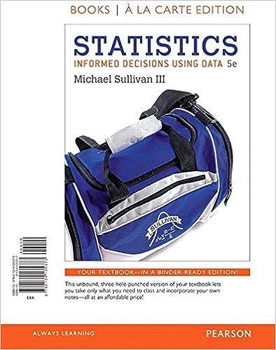 Amazon.com: Statistics: Informed Decisions Using Data, Books A La ...