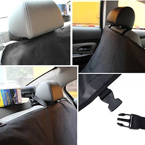 Docooler Dog Pet Car Seat Cover Waterproof Mat Car Back Seat Cover Bench Protector with Belts