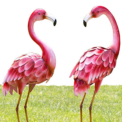 "Bits and Pieces - Set of Two (2) 35 ½"" Tall Metal Flamingo for sale  Delivered anywhere in USA"