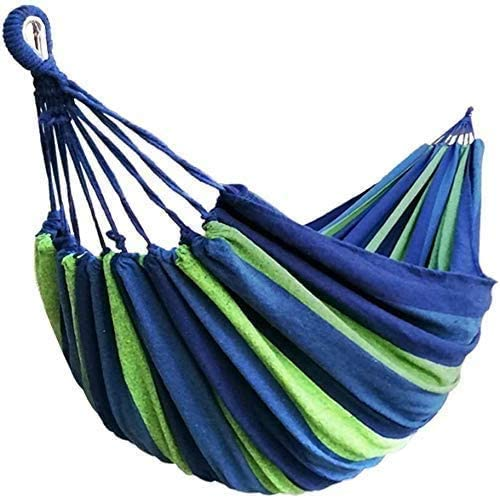Hammock, Brazilian Double Hammock – 190 x 150 cm, Thinkcase Cotton Hammock Stripe 2 Person Hammock with Portable Carrying Bag for Patio, Garden, Backyard, Outdoor and Indoor