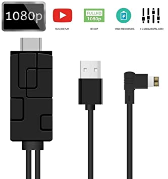 1080P TV HDMI AV Adapter Cable Cord for Apple iPad iPhone 6s 7 8 Plus X XR XS