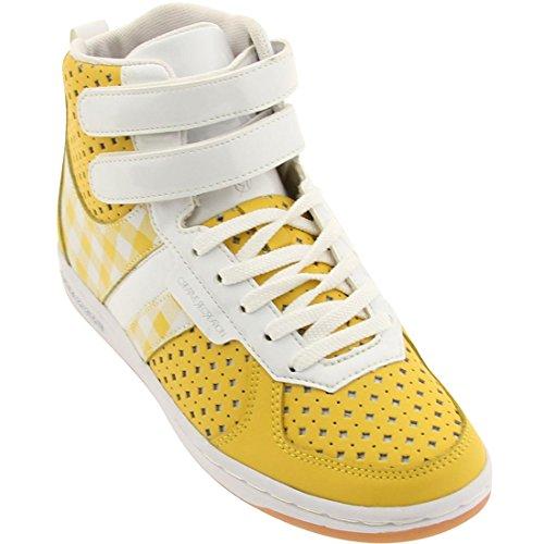 White Yellow Gingham (Creative Recreation Womens Dicoco (yellow / gingham / white / patent))