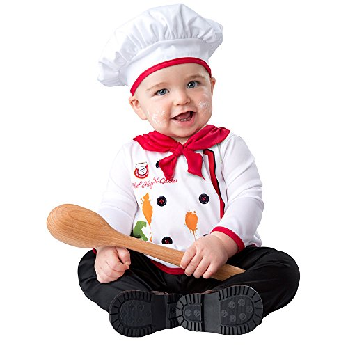 InCharacter Baby Hugs & Quiches Chef Halloween Costume 6-12 (Baby Chef Costumes)