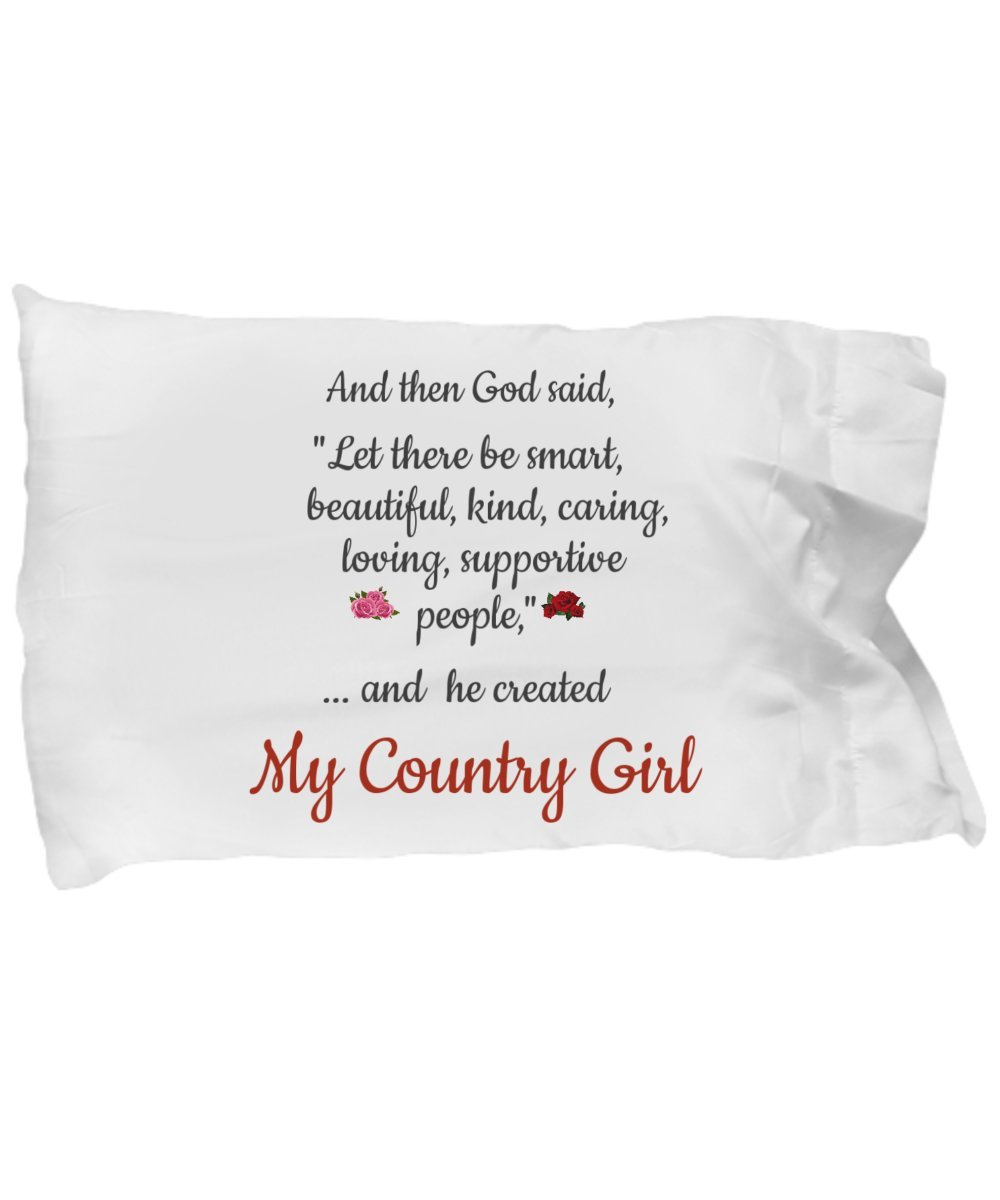Country Girl Pillowcase - Romantic Gift for Her on Valentine's Day, Christmas, Birthday Gifts by The Happy Life Club (Image #1)