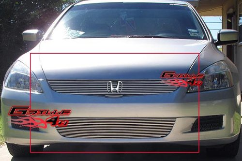 - Fits 06-07 Honda Accord 2 Door Coupe Billet Grille Combo #H87759A