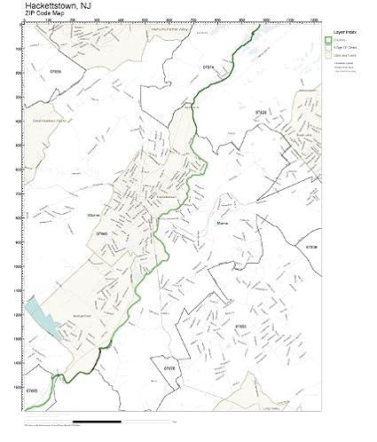 Amazon.com: ZIP Code Wall Map of Hackettstown, NJ ZIP Code Map ...