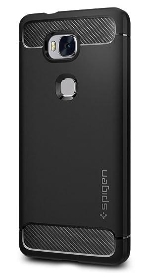 Spigen Funda Honor 5X Case, [Rugged Armor] La Ultima protección, Carcasa para Huawei Honor 5X - Negro (L03CS20292)