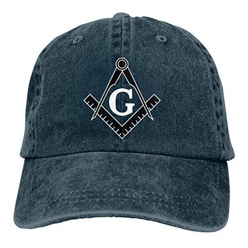 Freemason Logo Square and Compass Baseball Cap Dad Hat Adjustable Cap Trucker Hats Navy
