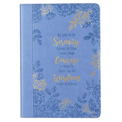 (Serenity Prayer Slimline LuxLeather Journal in Blue)