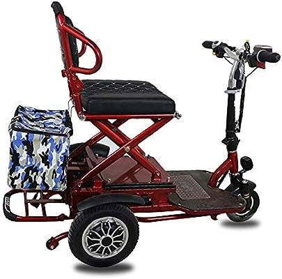 MMRLY Triciclo eléctrico Plegable, Scooter de Movilidad para ...