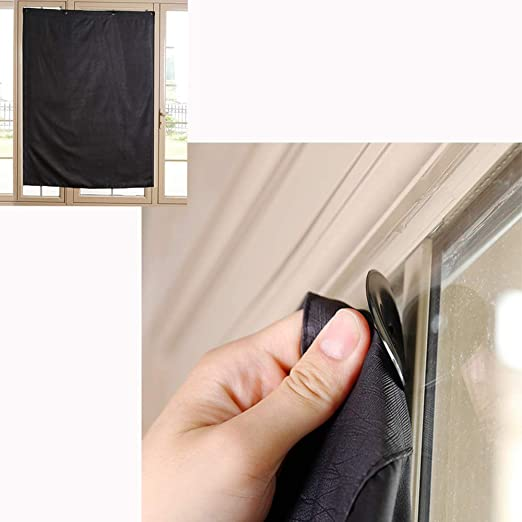 kongnijiwa Blackout Blinds Curtain Portable Shades with Suction Cups Baby Curtain Portable Nursery Bedroom Temporary Window Cover