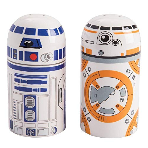 Vandor Star Wars BB-8 and R2D2 Sculpted Salt and Pepper Set (99030) by Vandor