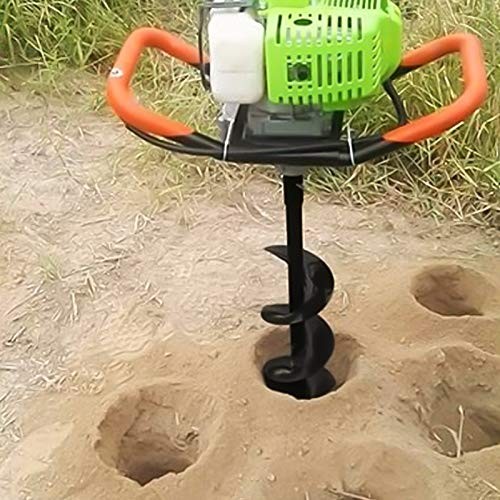 """SYITCUN 8x31.5inch Earth Auger Drill Bit Gas Powered Post Hole Digger 3/4"""" Shaft Auger Drill Bit for Planting Trees Gardening Large Fencing Projects Ice Auger"""