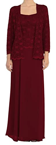 Belle Maids Lace and Chiffon Mother's Dress 4286V-BM
