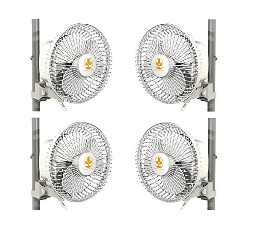 Secret Jardin Monkey Fan 16W Fits 0.63'' - 0.83'' Inch Grow Tent Poles - 4 PACK by Secret Jardin