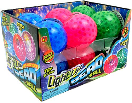 JA-RU Light Up Bead Ball Squeezing Stress Relief Ball (Pack of 72 Units) and One Bouncy Ball - for Kids & Adults Item #4205-72 by JA-RU (Image #3)