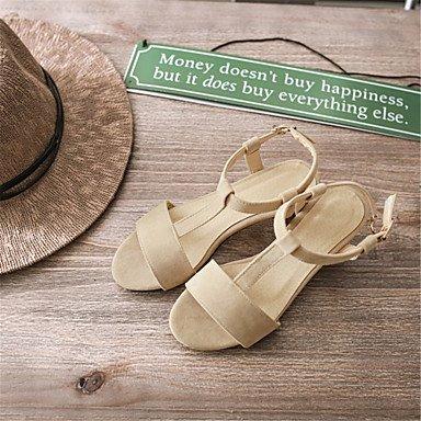 LvYuan Mujer-Tacón Robusto-Otro Confort Innovador Zapatos del club-Sandalias-Vestido Informal Fiesta y Noche-Vellón Materiales Personalizados- Black