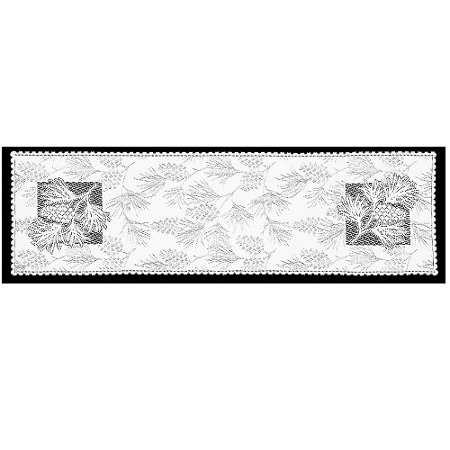 Heritage Lace Woodland 14-Inch by 60-Inch Runner, White