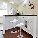 YOURLITEAMZ Bar Table Set of 3 – Adjustable Round Table and 2 Swivel Pub Stools for Home Kitchen Bistro, Bars Wine Cabinets
