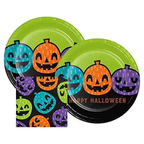 Playful Pumpkins Halloween Dinner Plates and Paper Beverage