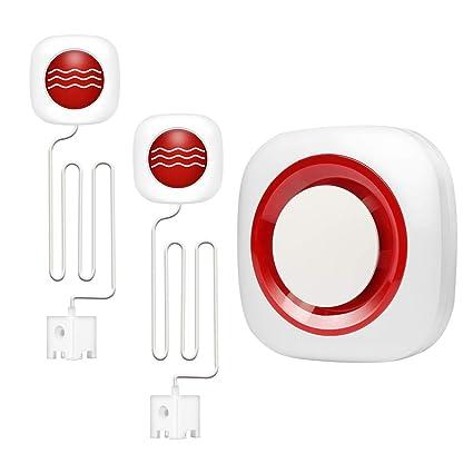 Amazon.com: KOOCHUWAH Water Leak Detector Alarm Sensor - GSM ...