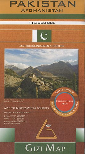 Pakistan Geographical Map 1 : 2 000 000: Afghanistan