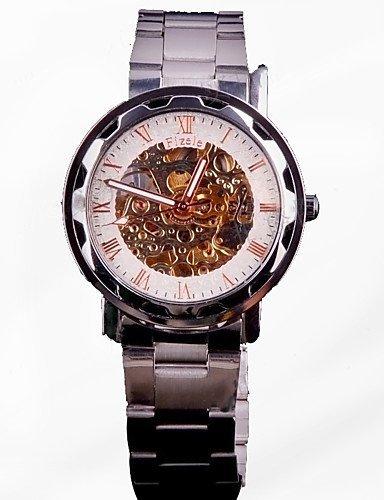 Reloj automático acero mecánico con cable para relojes mecánicos hombres personalidad actividades con cuadro de modo: Amazon.es: Relojes