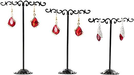 3x Earrings Jewellery Shop Display Stand Holder Showcase Storage Metal Rack